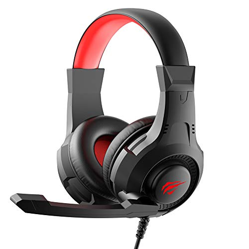 havit H2031d Esports Wired Over The Ear Headset with Mic (Black/Red)