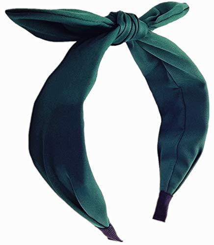 Hodooly 1Pcs Knotted Headbands for Women,Turban Headband Wide Headbands Bowknot Hair Band for Women Girls (Green)