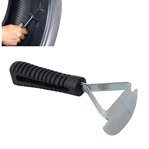 Pinhan - Herramienta multiusos para reparación de neumáticos de coche, rascador de neumáticos, herramienta para quitar raspadores de rueda de coche