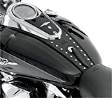 Mustang Motorcycle Seats Black Studded Tank Bibs for Harley Davidson 2007-2012 Yamaha V-Star 130 - One Size