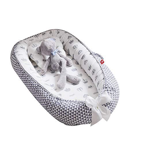 TEALP Cama Nido de Bebé Recién Nacido, Cuna de Viaje Portátil, Cuna para bebé recién nacido para 0 a 24 meses, Corona