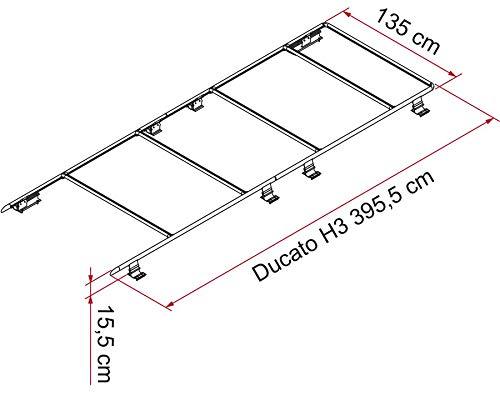 Fiamma Roof Rail Ducato H3 Dachreling