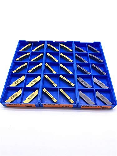 Insertos de Carburo, Volviendo conjunto de herramientas, 10PCS MGMN150 MGMN200 MGMN300 MGMN400 girando herramienta de hoja de ranurado inserciones CNC Torno de corte de diamante