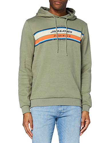 Jack & Jones JORTYLERS Sweat Hood STS Capucha, Sea Spray/Fit: Sudadera, M para Hombre