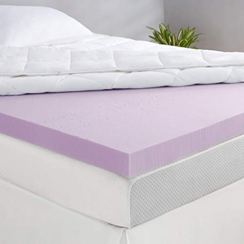 Amazon Basics Lavender Scent-Infused Memory Foam Bed Mattress Topper - Ventilated, CertiPUR-US Certified, 3 Inch, Twin
