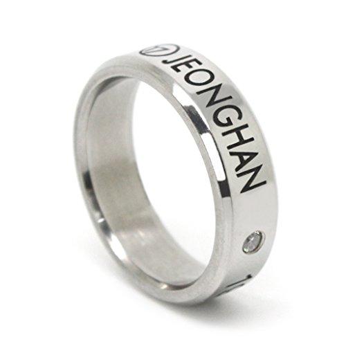 Fanstown Seventeen Kpop Titanium Birthday Ring Necklace with lomo Cards Vernon