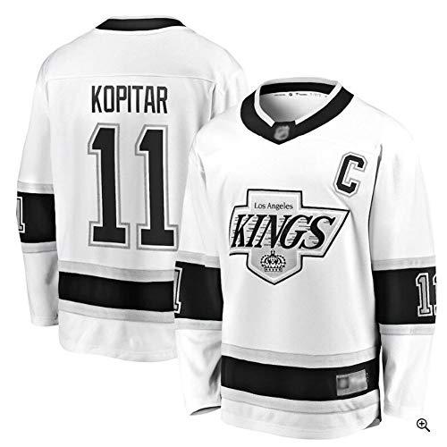 Kopitar # 11 Kings Eishockey Trikot Langarm Herren Eishockey Sportswear Wettkampf Team Training Uniform Fan Trikot Echt Trikot Weiß S-XXXL-XXL