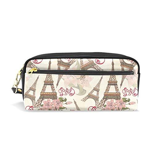Crayon Sac Stylo Etui Fleur Motif Tour Eiffel Paris Londres Maquillage Cosmétique
