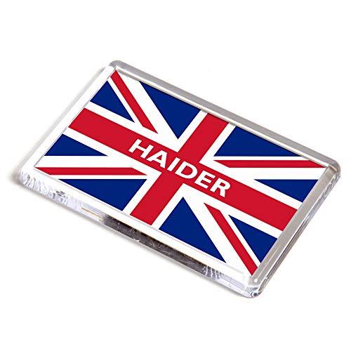 Kühlschrankmagnet – Haider – Union Jack Flagge – Geschenk für Jungen