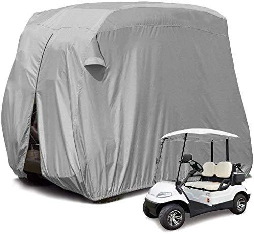 KAIXIN Cubierta Impermeable para Carrito De Golf para 2 Personas, Cubierta para Carrito De Golf Wagon, Cubierta Impermeable A Prueba De Lluvia para Artículos para El Hogar del Carrito De Golf, Gris