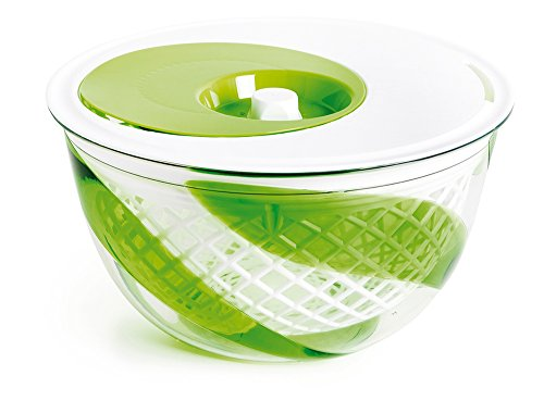 Snips centrifugado, drenaje y servir ensalada spinner 5Quart, Verde