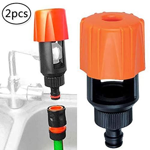BESLIME 2pcs Universal Tap, Rohrverbinder Mixer, für Küche Garten-Auto Waschen Reinigung Schlauchadapter Tippen Sie auf Connector