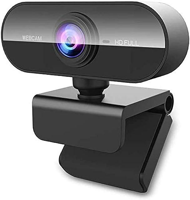 Cámara web con micrófono MHDYT HD 1080P Streaming Webcam para PC MAC portátil Plug and Play Cámara USB para YouTube Skype Videollamadas Estudio Conferencia Juegos con Clip Rotable