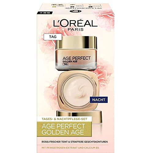 L'Oréal Paris Gesichtspflege Set, Age Perfect Golden Age, Anti-Aging Tagespflege und Nachtpflege,...