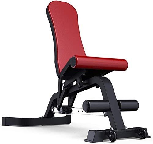 Cnley Banco de pesas con mancuernas, banco de pesas ajustable, silla de fitness, gimnasio, multifuncional, banco de pájaros, mesa supina, equipo de fitness