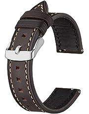 BISONSTRAP Cinturini per Orologi in Pelle, Cinturino di Ricambio a Sgancio Rapido per Uomo e Donna -18mm 19mm 20mm 21mm 22mm