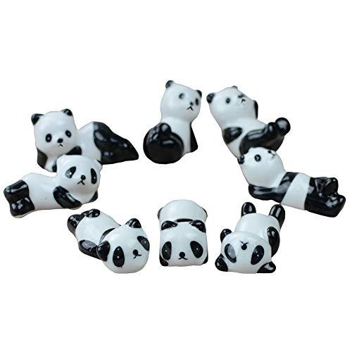 HugeStore 6 Pcs Chinese Cute Pandas Pattern Ceramic Chopsticks Rest Rack Knife Rests Holder