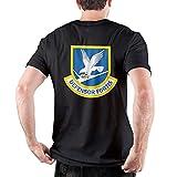 Defensor Fortis Air Force Security Force Hombre 100% algodón Camisetas de Manga Corta Muscle Gym Workout Athletic Shirt