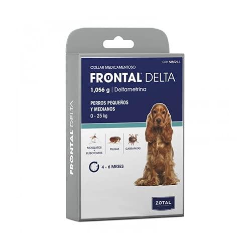 Zotal Laboratorios - Collar antiparasitario Frontal Delta Perros pequeños y medianos hasta 25 kg