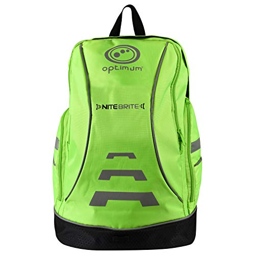 OPTIMUM Backpack, Zaino Ciclismo Nitebrite, Fluro, Taglia Unica Unisex-Adulto, Verde Fluo, One Size