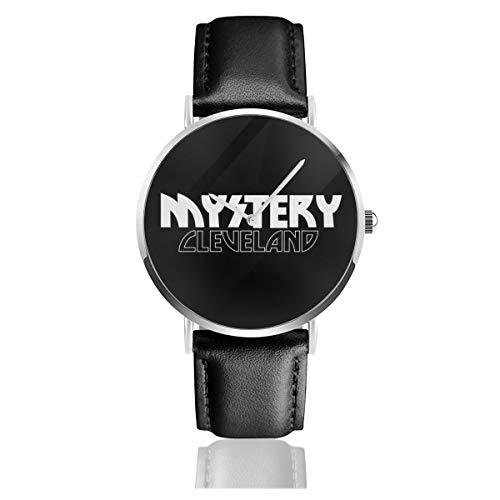 Unisex Business Casual Detroit Rock City Film KISS inspiriert Mystery Watches Quarz Leder Armbanduhr mit schwarzem Lederband für Männer und Frauen Young Collection Geschenk
