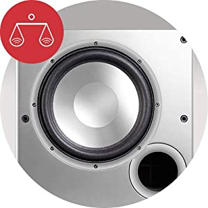 """Polk Audio PSW10E Aktivsubwoofer für Heimkino Soundsysteme und Musik, 10"""" Bass Box, 100 Watt"""