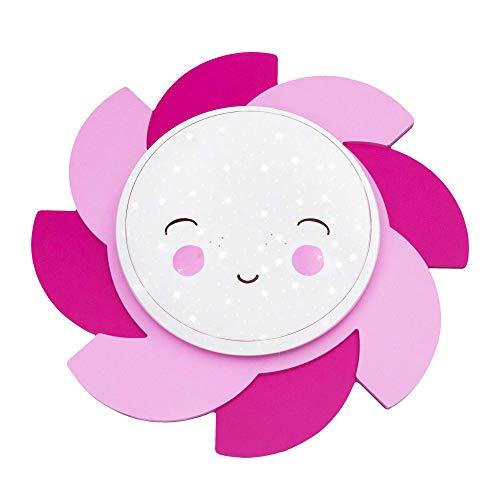 Plafonnier effet soleil Siri Smile Star Light Rose Pink
