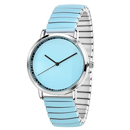 SC Crystal - Reloj de cuarzo para mujer, metal rodiado