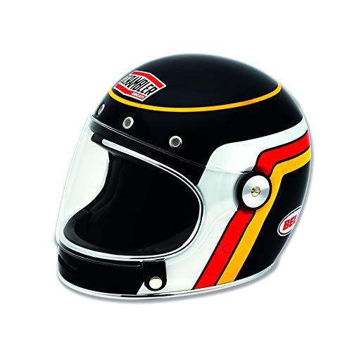 Ducati SCRAMBLER 98103330 Integral Retro Vintage Helm Motorradhelm Bell BLACK TRACK Classic (M)