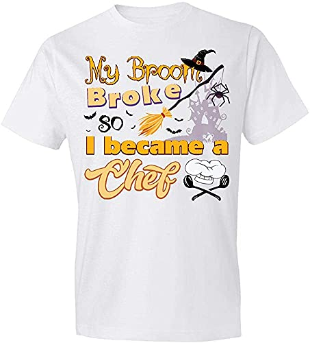 YUNHAI My Broom Broke So Now I Became A Chef T-Shirt,Gift White 3XL