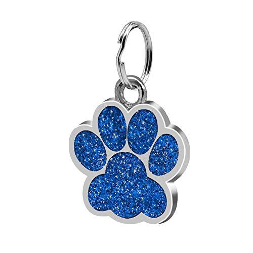 Huellas de moda colgante mascota decoración encantadora joyería para mascotas Huella de brillo popular tarjeta de identidad etiqueta de perro accesorios para mascotas