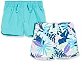 Amazon Essentials 2-Pack Pull-on Woven Shorts Pantalones Cortos, Cian Oscuro, Tropical, 8 años, Pack de 2