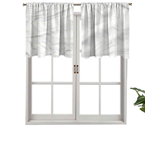 Hiiiman Cenefa recta, panel de cortina de gran calidad con bolsillo para barra, diseño de trébol, juego de 2, 137 x 91 cm, ideal para cualquier habitación y dormitorio