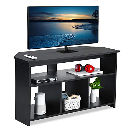 TV Stand Cabinet,Wooden TV Cabinet Unit stand for TVs up to 50 inch,Black