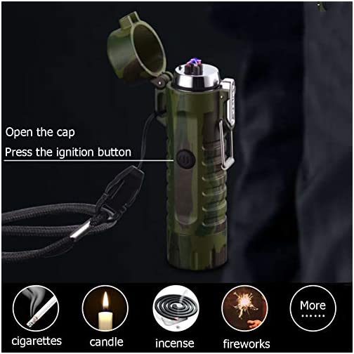 Waterproof Lighter USB Plasma Lighter Rechargeable Electric Lighter Waterproof with Flashlight Flameless Lighter… 4