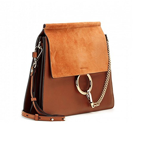 ACTLURE Women Genuine Leather Crossbody Shoulder Purse Chain Link FY Bag
