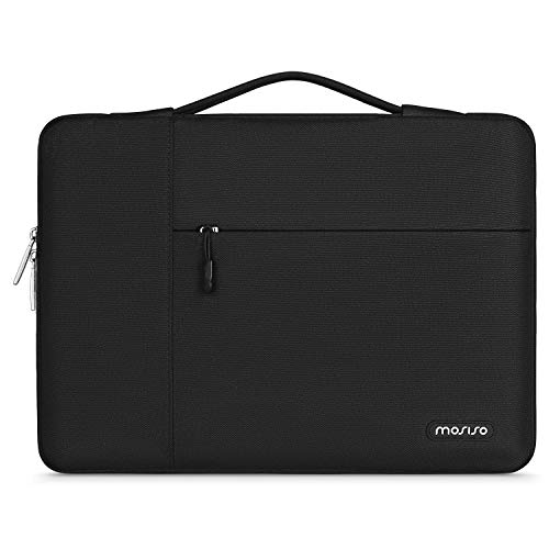 MOSISO Laptop Sleeve Case with Corner Protection Compatible with 13-13.3 inch MacBook Pro, MacBook Air, Surface Laptop 3/2/1 13.5, Lenovo Dell HP ASUS Acer, Polyester Briefcase Bag, Black