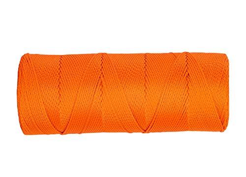 SGT KNOTS #18 Braided Mason Line - Nylon Masonry String, DIY Projects, Crafting, Commercial, & Gardening (1000ft, FluorescentOrange)