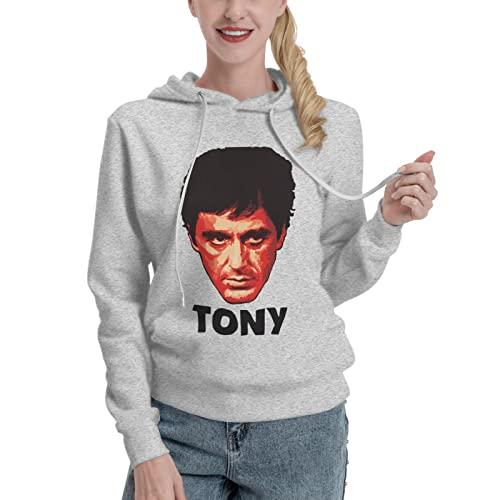PELETNNTO Al Pacino in Scarface Damen Kapuzenpullover weiß, grau, 36