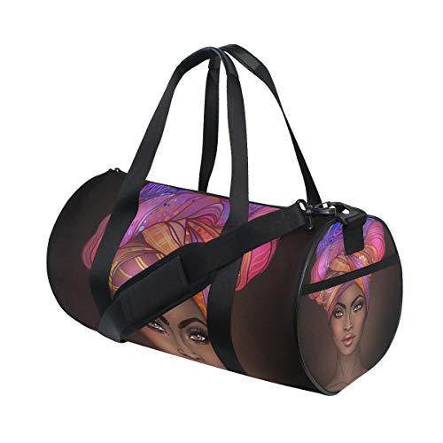 African American Gir Gym bag,Gym duffle bag, Duffle Bag,Sport bag,Carry On for Men Women, Durable Handle Luggage Bag for gym, sport,travel