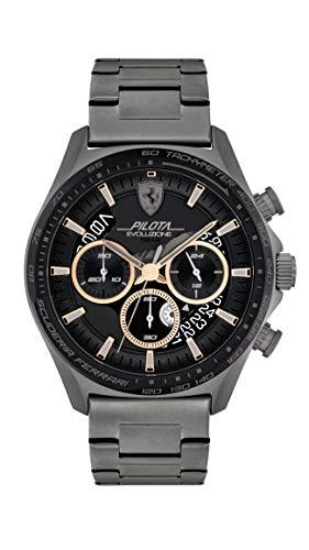 Scuderia Ferrari Reloj Cosa análoga para de los Hombres de Cuarzo con Correa en Acero Inoxidable 830824