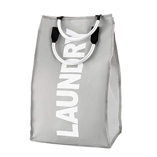 Portable Portable Storage Bag Foldable Fabric Laundry Bag Waterproof Dirty Clothes Basket Storage Bag Large Color  Light Grey