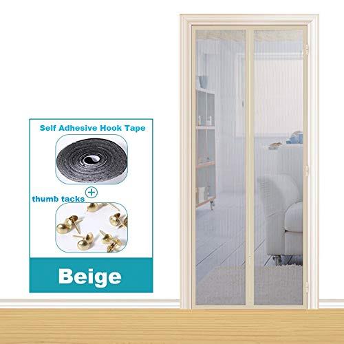 Dormitorio de la casa de verano cortina anti-mosquitos absorción magnética manos libres puerta blindada electromagnética mejorada, pantalla de la puerta de la cortina anti-mosquitos A1 W120xH210