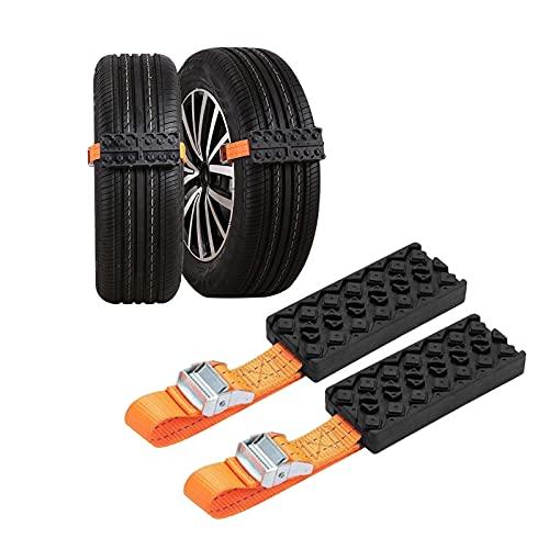 Snow and Sand Tire Chains for Car, Suv, Pickup Trucks, Minivan, Cadena Para Llantas Nieve ,Universal Snow Tire Straps,(Pack of 2)