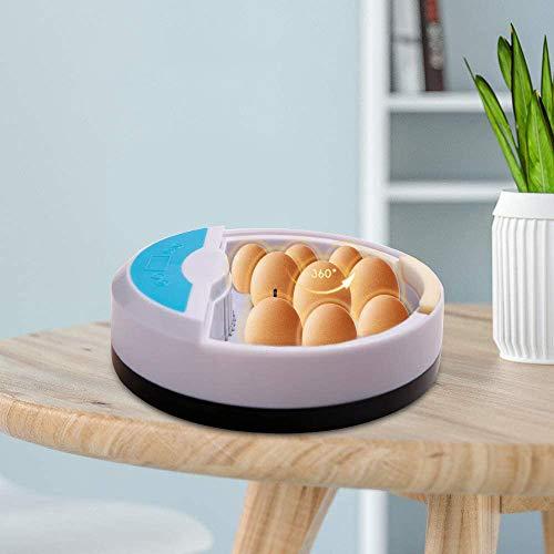 InLoveArts Mini Incubadora de Huevos Incubadora de Aves de Corral Máquina 9 Luces LED para Cada Huevo con Control de Temperatura