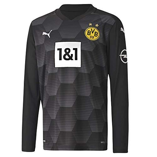 PUMA Torwarttrikot BVB GK Shirt Replica LS Jr w.Sponsor New, Puma Black, 140, 931108