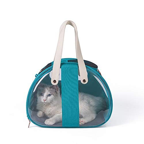 DZGN Cat Vettore Zaino, Borsa Capsula Spaziale Pet PVC può Essere Piegato Fuori del Sacchetto Portatile Adatto per Cani e Gatti di Viaggio ed Escursioni