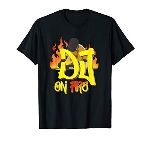DJ Disko Party Design Mischpult Plattenspieler Musik Outfit T-Shirt