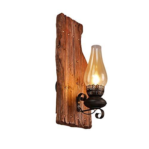 Wandleuchten Wandlampe Wandbeleuchtung Industrie-Beleuchtung Nachahmung Alten Kerzenhalter Metallkäfig Innen Haushaltslampen ZHAOYONGLI (Farbe : Beige)