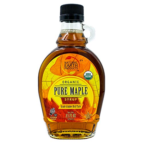 Organic Pure Maple Syrup, Canadian Maple Syrup, Grade A Amber Rich Taste, 100% USDA Certified, 8.5 Fl Oz (Single)